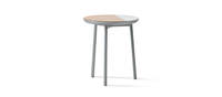 Chord Personal Table - Silver Metallic Gloss, Ash, White Quartz