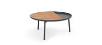 Chord Coffee Table - Black Texture, Walnut Insert