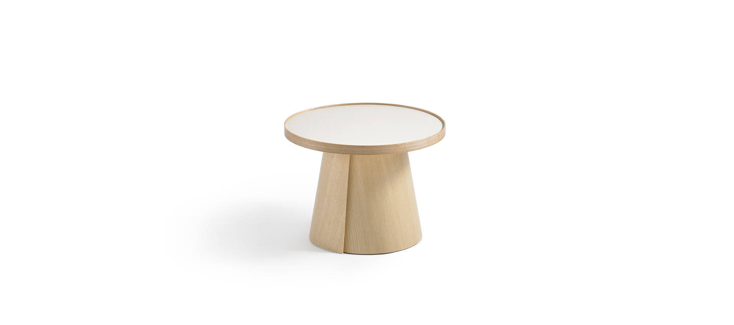 Penna Small Round Table - Clear over Ash