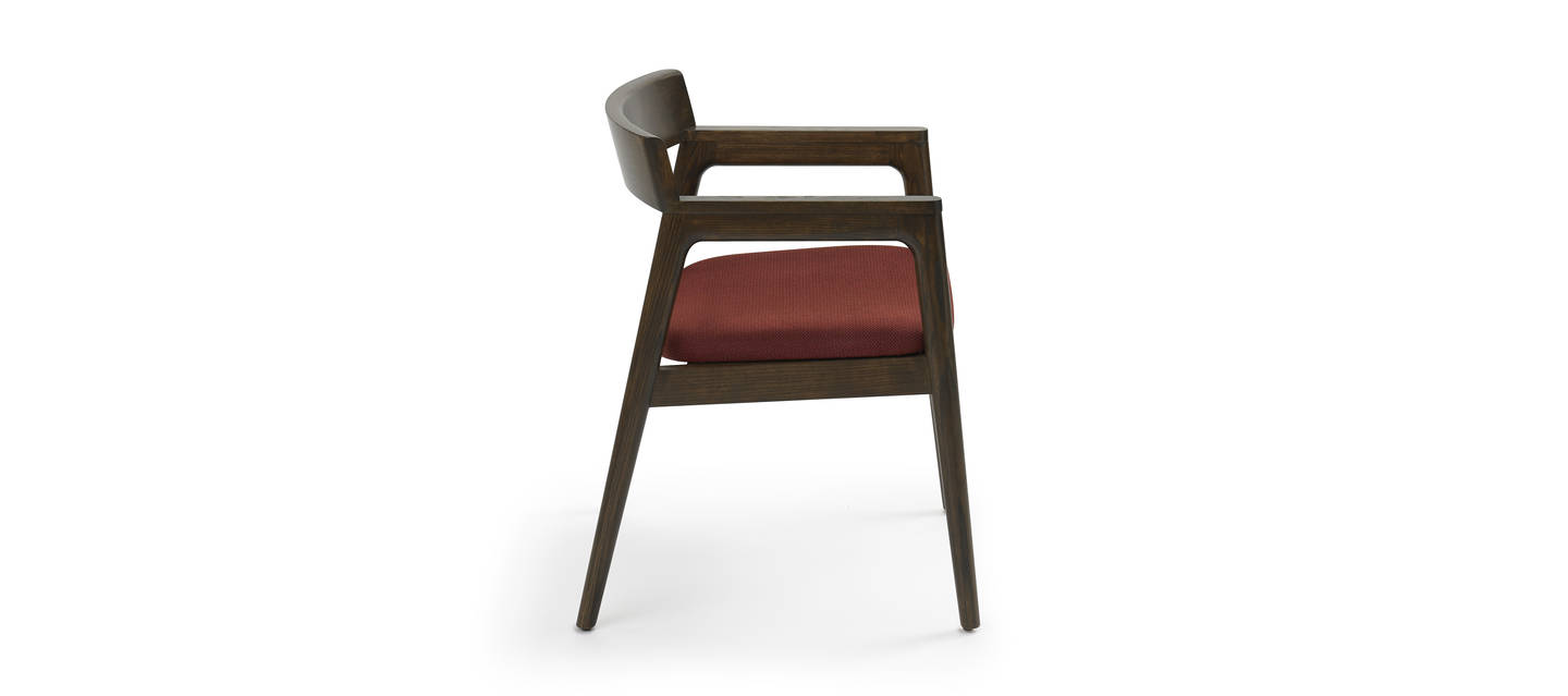 Prose Pull-Up Chair - Walnut over Ash