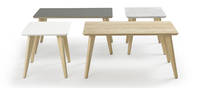 Prose Occasional Tables - Clear over Ash