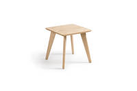 Prose Free-Standing End Table - Clear over Ash