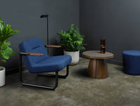 Chroma Lounge and Ottoman with Penna Small Round Table