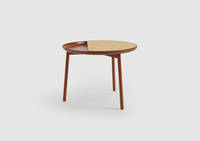Chord Side Table - Oak over Ash, Copper Red Frame