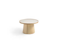 Penna Large Round Table - Clear over Ash