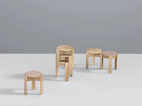 Kino Stool - Ash ensemble with stack