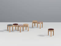Kino Stool - Mixed Forbo colors ensemble