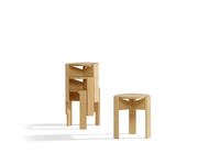 Kino Stool - Single & 3-Stack, Ash