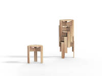 Kino Stool - Single & Stack, Ash