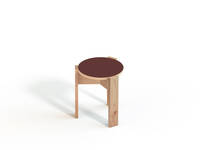 Kino Stool - Forbo Top, Burgundy