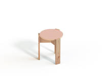 Kino Stool - Forbo Top, Powder